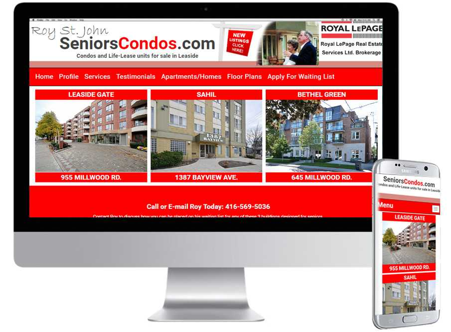 Seniors Condos , Mobile Web Sites, Web Design, Barrie