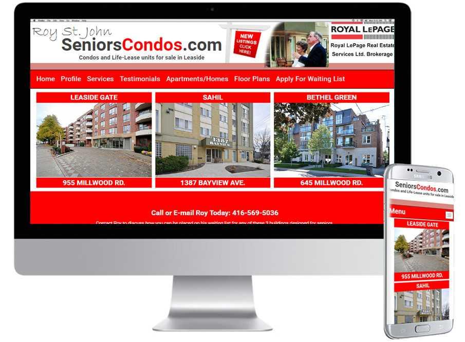 Seniors Condos , Mobile Web Sites, Web Design, Barrie