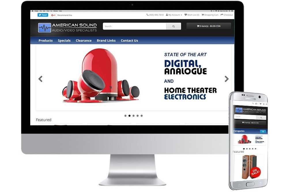 American Sound, Web Design, Mobile Web Sites, Toronto