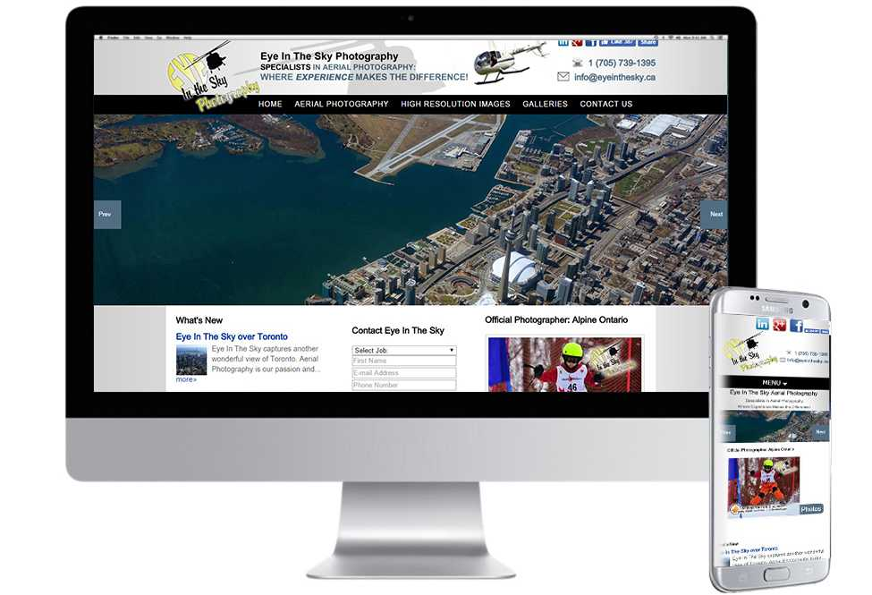 Eye In The Sky Photography, Mobile Web Sites, Web Design, Barrie