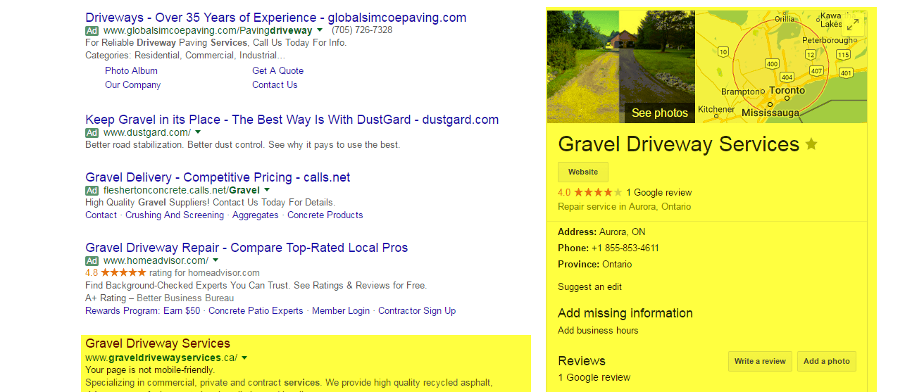 Google Search Results, Web Design & SEO