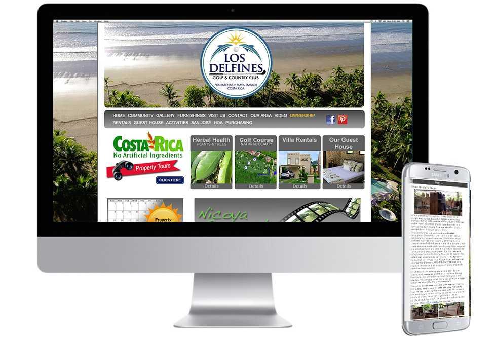 Los Delfines Costa Rica, Web Design, Mobile Web Site, Barrie, Toronto