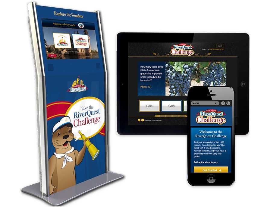 Digital Kioks River Quest Interactive Display & HD VIdeo