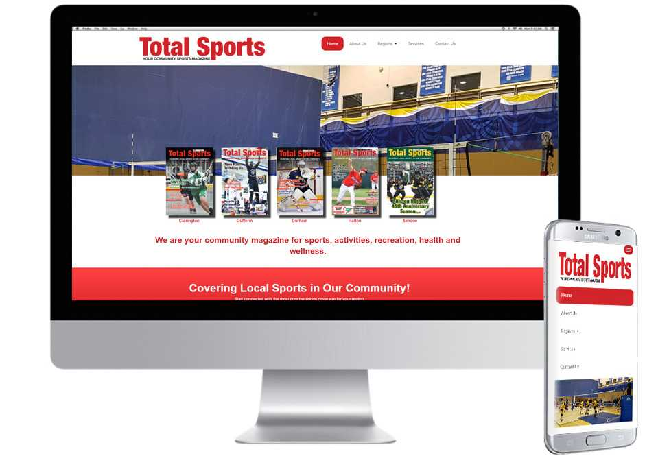Total Sports Alliance, Mobile Web Sites, Web Design, Barrie