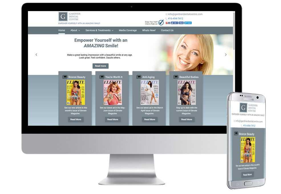 Gardner Dental Web Design & Mobile Websites